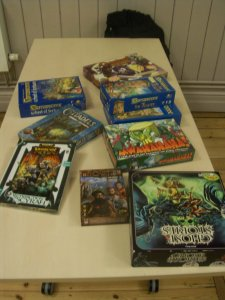 A range of the games that are being played